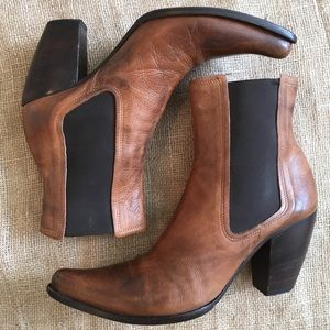 Fuga Futturi Italian Leather Ankle Boots